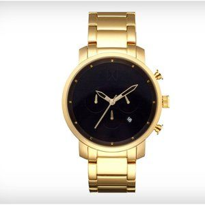 45mm Chronograph Bracelet Watch Brushed Black/Gold